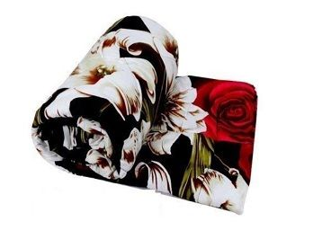 Adore u Single Bed Ac Blanket Dohar/Quilt Pink Flowers, Fabric - Microfiber , Size -54X84 Inches - Multi Color