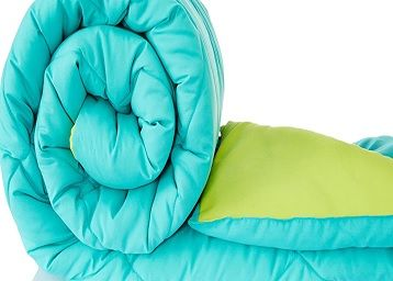 Amazon Brand - Solimo Microfiber Reversible Comforter, Single (Aqua Blue & Olive Green, 200 GSM)