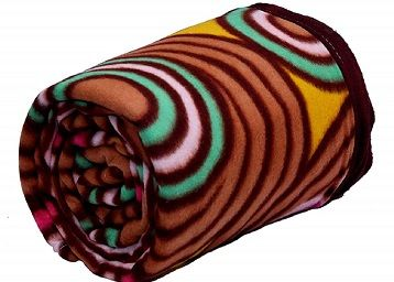 BIZIM Polyester 250 TC Blanket (Single_Multicolour)