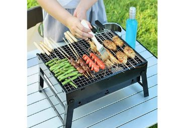 HaRvic Style Portable Outdoor Barbeque Grill Toaster