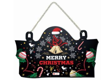 Christmas Home Decoration Items Merry Christmas Printed Wall/Door Hanging 8 X12.5 Inches At Rs. 299