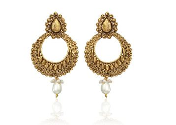 Zaveri Pearls Charming Chandbali Earring