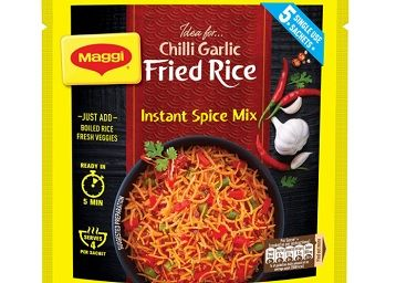 MAGGI Fried Rice Masala, Chilli Garlic, 75g Pouch (5 Sachets) | Restaurant Style