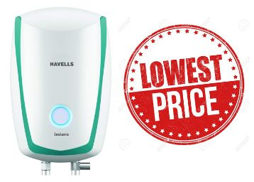 Lowest Online : Havells [ 1 L ] Instant Water Geyser At Rs. 1942