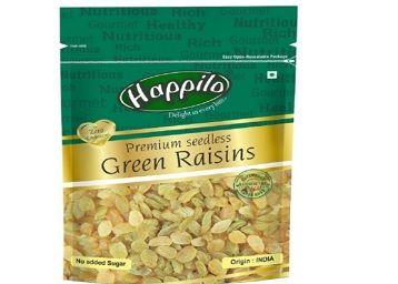Happilo Premium Seedless Green Raisins, 250g