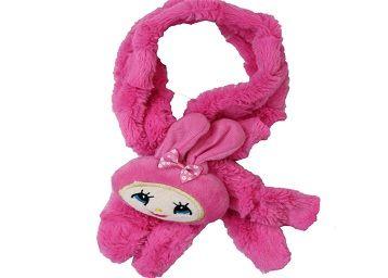 Devil Kids Solid Fur Muffler (Pink)