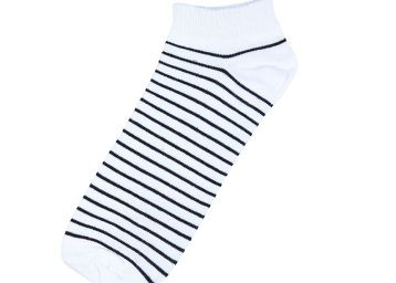 Stop by Shoppers Stop Mens Striped Socks (201981801_White)