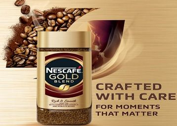 Nescafe Gold Blend Rich and Smooth Coffee Powder, 200g Glass Jar