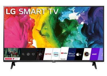LG 108 cm (43 inches) Full HD LED Smart TV At Rs. 29999 + 10% SBI Off