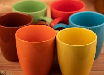 Multicolor Milk & Coffee Mugs Set of 6, 325 Ml (Multicolor)