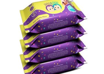 Roo & Boo Baby Wet Wipes - Paraben Free , 99% Water Wipes (30 pcs/pack) (Pack of 4)