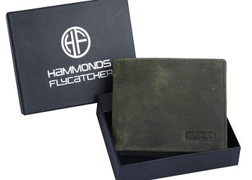 Hammonds Flycatcher RFID Protected Moss Green Vintage Leather Wallet for Men|10 Card Slots| 1 Coin Pocket|2 Hidden Compartment|2 Currency Slots|1 ID Slot