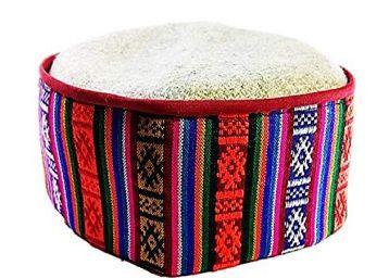 CHAMBA HERITAGE Unisex Multi-Coloured Himachali Kullu Kinnauri Patti Woolen Cap/Topi Traditional Handcrafted pahari topi