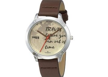 Gully by Timex Globetrotter Analog Blue Dial Women