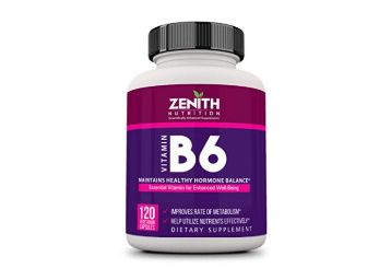 Zenith Nutrition Vitamin B6 (Pyridoxine) Energy & Nerves - 120 Veg Capsules AT Rs. 371