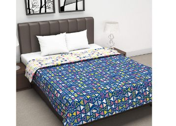 Divine Casa Twilight Reversible All-Weather Double Bed Quilt Blankets