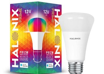 Halonix Wi-Fi Enabled Smart Bulb E27 12-Watt 16 Million Colors + Warm White/Neutral White/White) (Compatible with Amazon Alexa and Google Assistant)