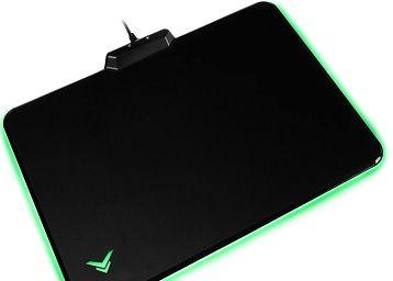 AmazonBasics Hard Gaming Mouse Pad with LED Lightning Effects