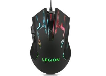 Lenovo Gaming Mouse - M200 (GX30P93886) | Ambidextrous | 5-Button Design, up to 2400 DPI with 4 Levels DPI Switch | Adjustable DPI on The Fly | up to 30 inches per sec Moving Rate