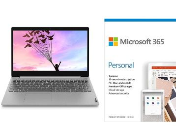 Lenovo IdeaPad Slim 3i Intel Celeron N4020 15.6-inch HD Thin and Light Laptop (4GB/256GB SSD/Windows 10/Platinum Grey/1.7Kg) Microsoft 365 Personal-One Year Subscription Included At Rs. 25589