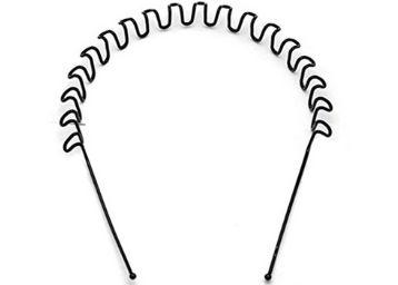 Style Tweak Zigzag Wave Black Metal Unisex Hairband