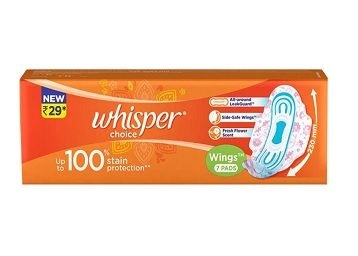 Whisper Choice Ultra 20 (Extra Large) Sanitary pads for women