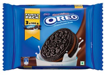 Cadbury Oreo Choco Crème Biscuit Family Pack, 300g by Cadbury Biscuits