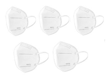 Urban king PACK OF 5 KN95 Anti-Dust Breathable Protective Reusable Masks