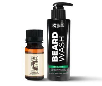 Beardo The Classic Beard Oil (30ml) & Beard Wash Combo (100ml) AT Rs. 299