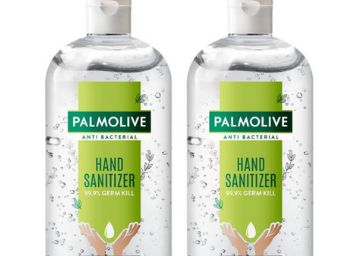 Palmolive Antibacterial Hand Sanitizer, 72% Alcohol Based Sanitizer, Kills Germs Instantly, Non Sticky, Gentle on Hands, 2 x 500ml