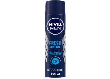 NIVEA Men Deodorant, Fresh Active, 48h Long lasting Freshness, 150 ml