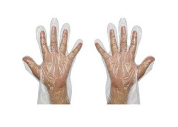 ZEONELY MART Transparent Hand Gloves_Pack of 100,plastic