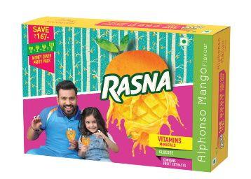 Rasna Fruit Fun MSP (32Gl+32GL+ 32GL) monocarton, Alphonso Mango Pack of 2 At Rs. 187