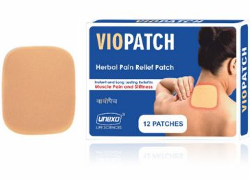 Viopatch Herbal Pain Relief Patch - Pack of 12 Patches | Instant Relief from Muscular Pain & Joint Pain| Natural Pain Relief Patches | No Side Effects