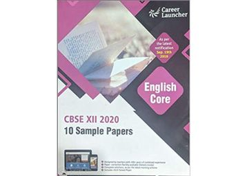 CBSE 2020 : Class XII - 10 Sample Papers - English Core Paperback