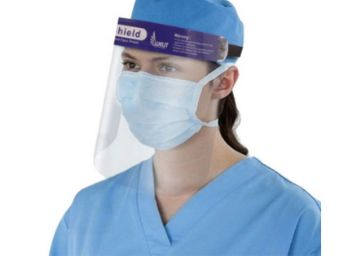 ORILEY ORFSN04 175 Micron Disposable Face Shield with Adjustable Elastic Strap Anti-Splash Single Use Protective Facial Cover Transparent Full Face Visor with Eye & Head Protection (1 PC)