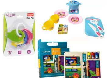 Kids Special [Toys, Colours, Stationery] From Just Rs.59 [Bank Off + FKM Cashback]