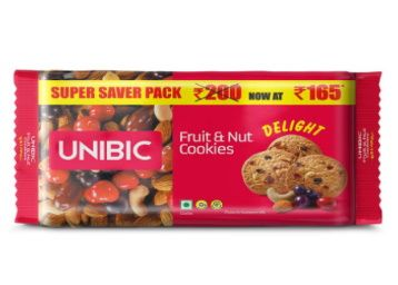 Flat 40% off - UNIBIC Fruit & Nut Cookies, 500 g At Rs. 99