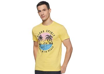Life by Shoppers Stop Mens Round Neck Printed T-Shirt