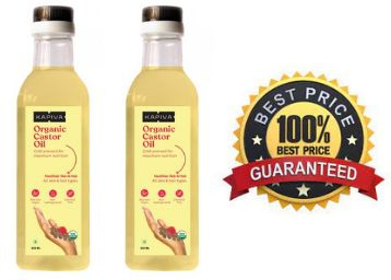 Lowest & Best Quality - Organic Castor Oil [ Pack Of 2 ] At Rs. 186 Each + Free Shipping