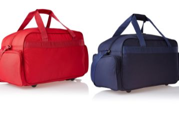 Skybags Cardiff Polyester 55 cms Blue Travel Duffle + Cardiff Polyester 55 cms Red Travel Duffle (DFCAR55BLU + DFCAR55RED)