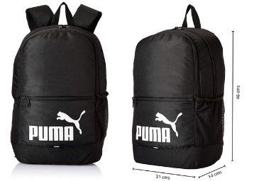 PUMA Laptop Backpack IND I Black- White