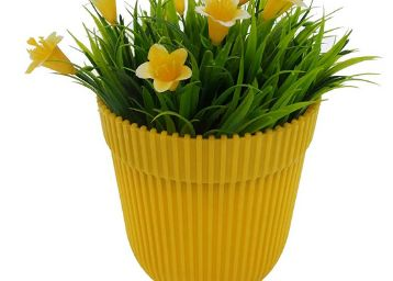 Wonderland Yellow Fresh Plastic Garden Pot