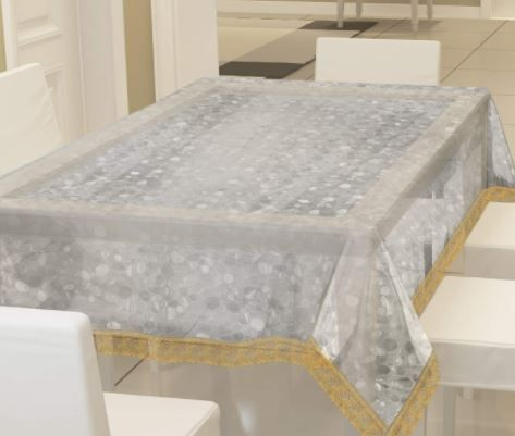 Fun Homes Transparent 3D Design PVC 6 Seater Dining Table Cover At Rs. 329