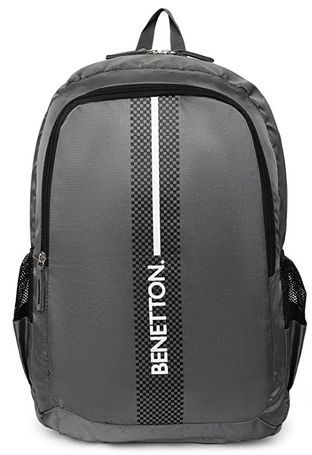 United Colors of Benetton 18L Grey / Blk Laptop Backpack