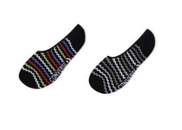 Converse Unisex Hidden / No Show Non Terry Socks Pack of 2-1002592093001 (BLACK)