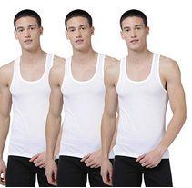 Levi's Men's 100% Cotton 100 CA Classic Solid White Vest