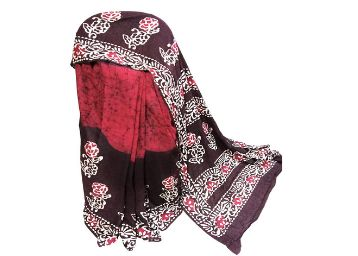 Maxim world Hand Block Printed Batik Cotton Saree