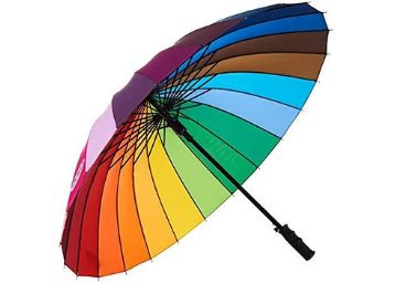 Flyson Rainbow Umbrella Windproof Multicolor Umbrella