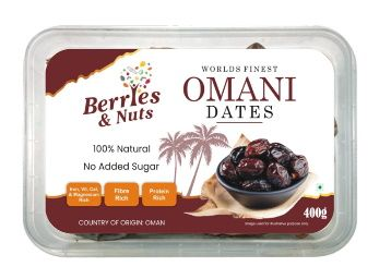 25% Coupon Off - Berries And Nuts Premium Jumbo Oman Dates | Hand Picked Omani Dates | 400 Grams At Rs. 187